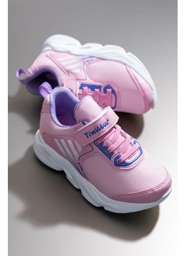Tonny Black Pembe Lila Çocuk Spor Ayakkabı Tbz05 Pembe